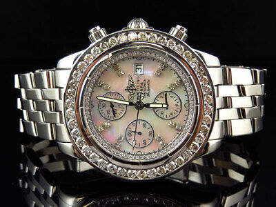 e907a00e4fb Custom Mens Windrider Breitling Evolution A13356 45 mm White Diamond Watch  6 Ct