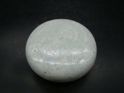 Chinese Qian Long (1736-1795) and mark nice glazed incised box  a6985
