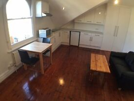 Brand new characterful compact loft studio with stripped wood floors - BILLS INCLUDED
