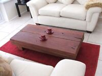 Oak table - rustic hand crafted sleeper table