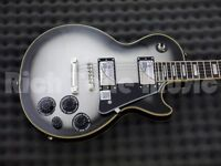 Epiphone Les Paul custom pro in silverburst with Epiphone hardcase