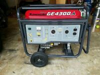 Kawasaki GE4300A Generator Used works ok. Has 230 mains and 110 volts (Swichable)