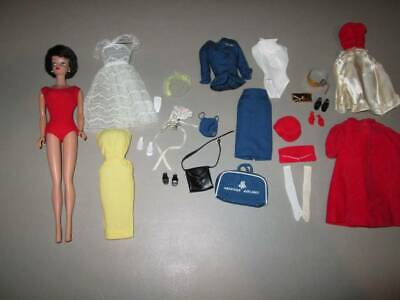 Vintage Bubble Cut Barbie with 4 tagged Outfits