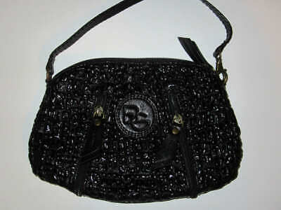 BCBG BCBGeneration small black handbag clutch zipper inside pockets