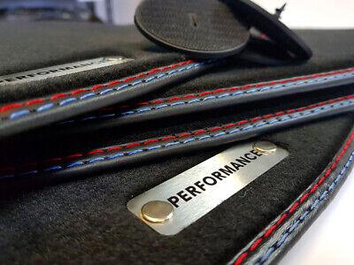 M3 Fußmatten BMW 3er E90 E91 beste  Qualität Velours Metal Logo Performance +4