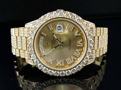Mens Rolex Day-Date II 18k 40MM President 228238 Yellow Gold Diamond Watch 30.5