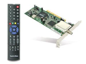 TechniSat SkyStar S2 DVB-S TV Karte PCI  mit Fernbedienung  für HDTV Empfang