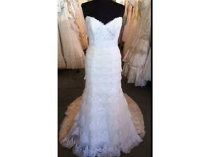 Maggie Sottero Lace Wedding Dress - Size 4