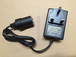 Uk Mains To V Car Charger Adapter Converter Plug