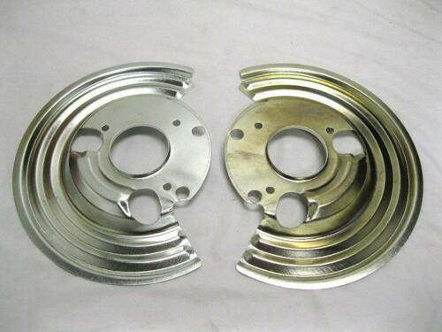 1964-1972 Mopar B Body Backing Plates Set Dust Shields Disc Brake Pair NEW