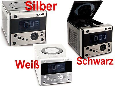 UHRENRADIO MIT CD PLAYER WECKRADIO RADIOWECKER KÜCHENRADIO verschiedene Farben ! (Uhr Mit Cd-player)