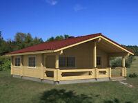 FOUR ROOMED LOG HOUSE