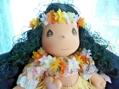 Precious Moments Hawaiian Girl doll Lulu/grass skirt w/tags -