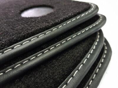 Fußmatten Mercedes E-Klasse W212 Original Velours Ziernaht + Befestigungspunkte