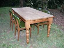 Massive wood table with 4 chairs Kurrajong Heights Hawkesbury Area Preview