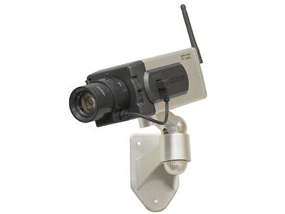 Kamera Dummy Überwachung Bewegungssensor Sicherheit LED Diode Attrappe
