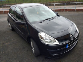 Renault Clio 2007, 1.2 Petrol, 55000mil, Manual, Black, Long Mot 02/2018
