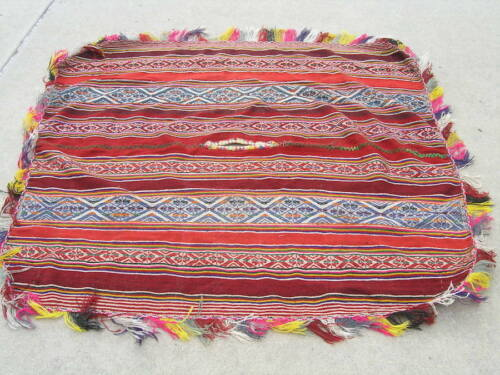"Vintage Peruvian / Bolivian Andean Aymara Shoulder Cloth Poncho 50x58"""