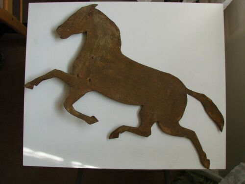Horse Weathervane Topper, Vintage Metal, Large