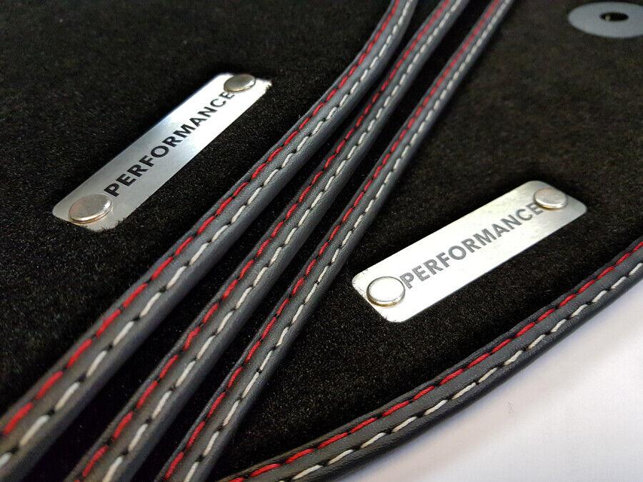 Exclusive Fußmatten Porsche Cayenne 955 1 Original Qualität Velours Metal Logo