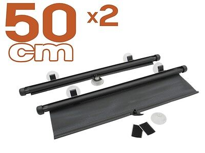protezione solare 2 x auto Tenda da sole 50 cm Tendina Parasole avvolgibile