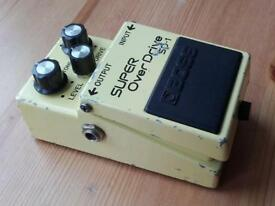 Boss SD1 Japan 1985 Super Overdrive vintage guitar effects pedal MIJ SD-1