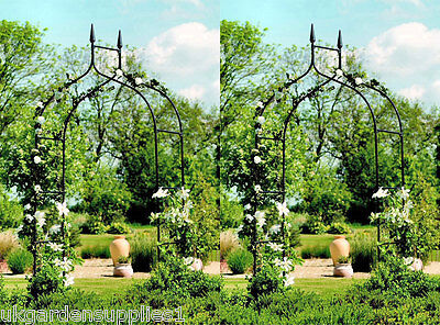 2 x Gothic Metal Arches / Metal Archway / Arch