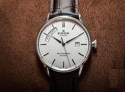 Edox Les Vauberts Big Day Date 83007-3-AIN Swiss Made Automatic Men's Watch NEW
