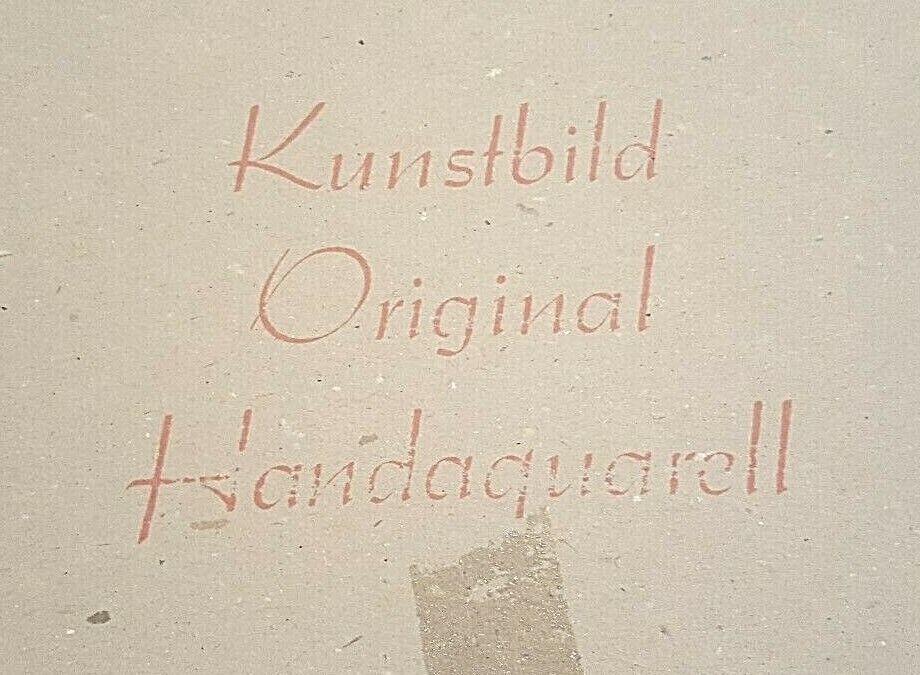 Framed Artist Signed PRINT Pen/Watercolor Brandenburg Gate Kunstbild Original - $35.00