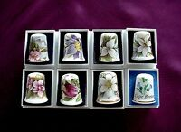 8 Bone China British Made Canadian Provincial Flower Thimbles
