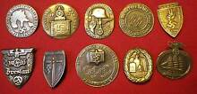 German Nazi Era Insignia Metal Badges / Tinnies? 10 x Different! Moonah Glenorchy Area Preview
