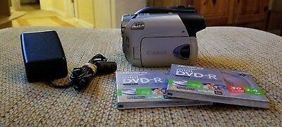 Canon DC310 DVD Camcorder with 41x advanced zoom & Power  Adapter