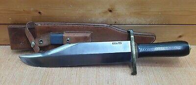 "Vintage Randall Made Smithsonian Bowie Knife Model #12-11"" Black Handle w/Sheath"