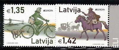 2020 Latvia Europa CEPT MNH Ancient Postal Routes
