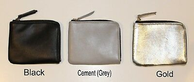 Black Leather French Purse - LODIS Women's French Purse Coin Wallet Black Cement Grey Gold Genuine Leather