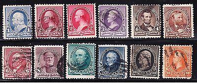US 219-229 1c-90c Small Banknotes Used SCV $284