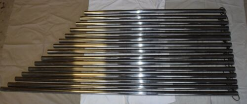 """Orchestra Chimes Tubes Only E-D 1"""" Chrome NO Cracks or Dents (15 bells)"""