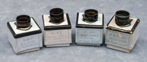THREE BELL & HOWELL 70/75 MOVIE TINY 15MM FILTERS IN BOXES - FREE USA SHIPPING