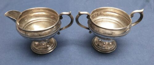 Antique Sterling Silver Cream & Sugar Set F.B. Rogers Silver Co 1883