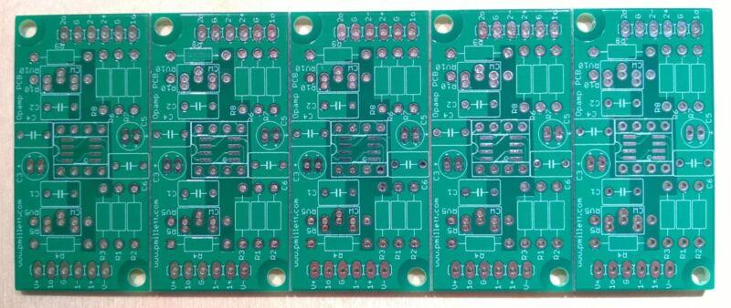 DIY PCB - 5x Dual opamp experimenter PCB