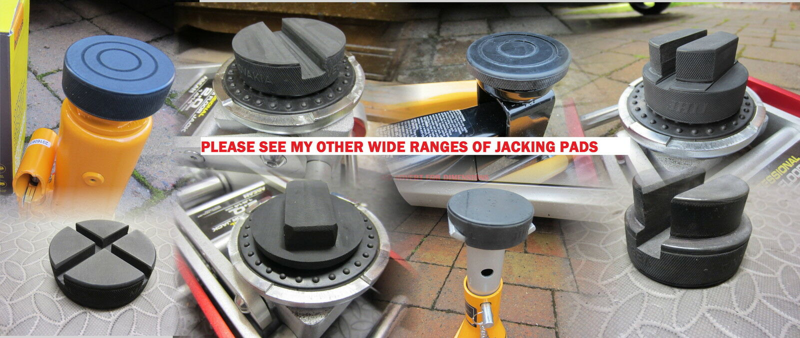 Trolley Jacking Pads - Rubber Pads