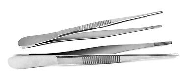 2thumb Dressing Forceps 4.5serrated Tips Strong Flat Grip High Stainless Steel