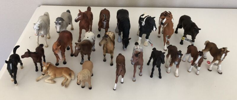Schleich Model Horses - Lot Of 21 , Some Retired And Tagged
