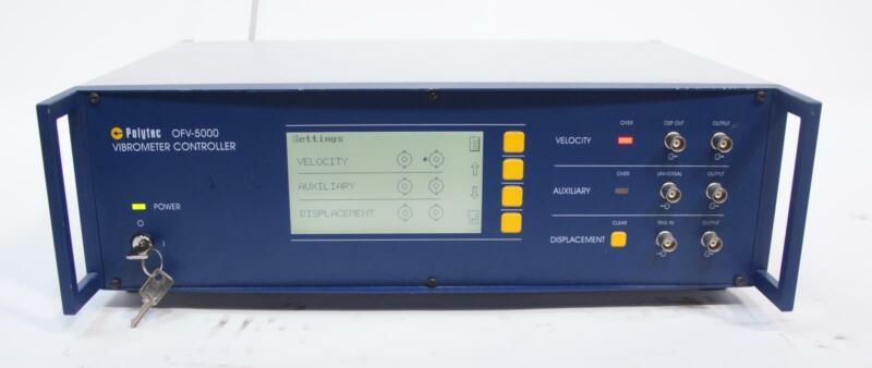 Polytec OFV-5000 0.2-2m Non-Contact Laser Doppler Vibrometer Controller