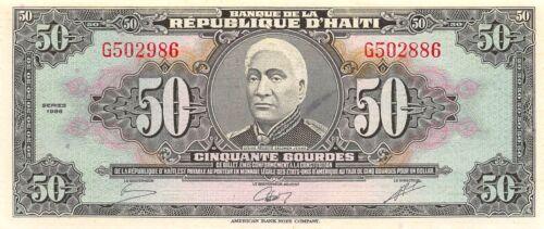 Haiti  50  Gourdes  1986  P 245  Series G  Uncirculated Banknote NY1117