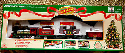 Santaland Christmas train set
