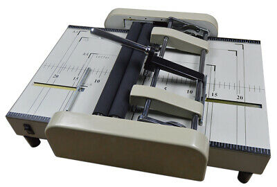 Intbuying A3 Paper Folding Binding Machine Booklet Staplers Folder Marking 110v