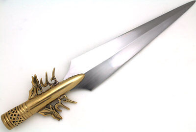 Medieval Warrior 10th Century High Carbon Steel Viking Spear Head w/ Solid Brass
