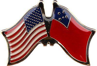 (USA American Samoa Flag Bike Motorcycle Hat Cap lapel Pin )