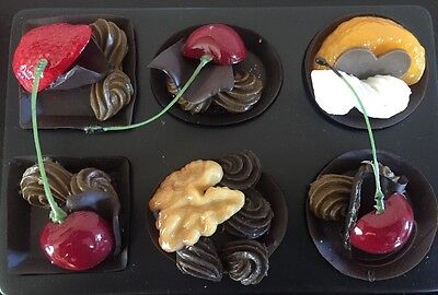 Fake Faux Replica Display Prop Chocolate Candy w/ Nuts Cherries Strawberries